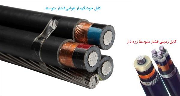 انواع کابل فشار متوسط آلومینیومی