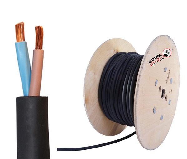 کابل برق دو رشته لاستیکی
