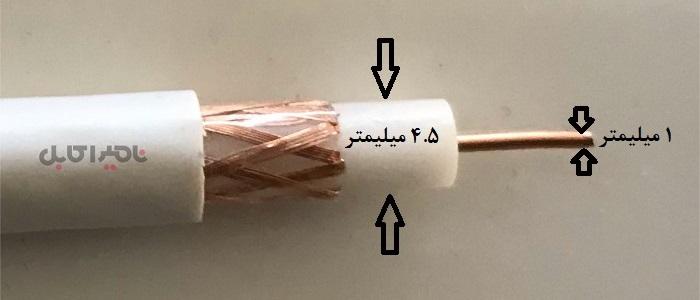 کابل 4.5C2V تمام مس