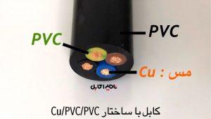 کابل Cu/PVC/PVC