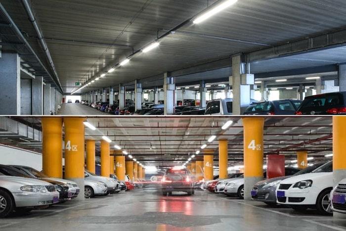 روشنایی پارکینگ
