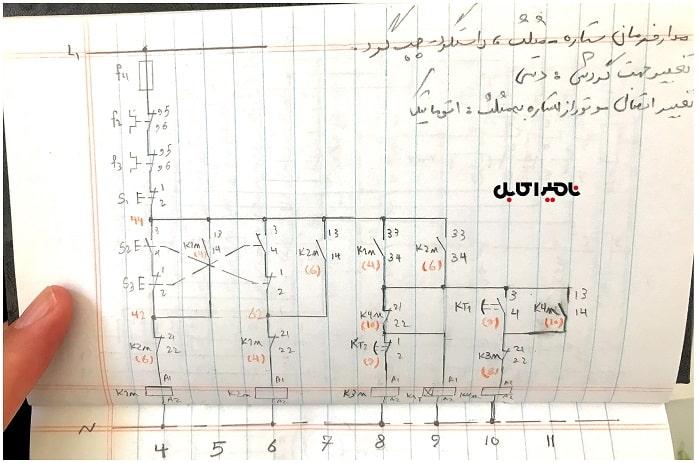 مدار فرمان ستاره - مثلث و چپ گرد و راست گرد