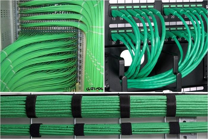 کابل LAN سبز